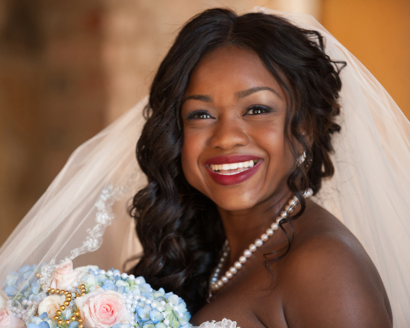 bella collina bridal portrait