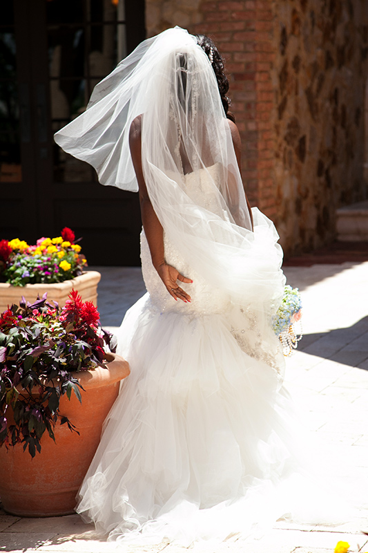 bella collina bride walking